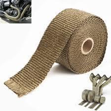 Thermisches Schild-Kohlenstoff-Faser-Schwarz-Fiberglas-Abgas-Vorsatz-Rohr-isolierende Wärme-Verpackung für Motorrad