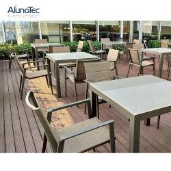 Populaire moderne en métal Loisirs Table à manger avec canapé canapé Ensembles de meubles
