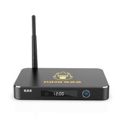Настраиваемые короля S22 Amlogic S922X 4 ГБ оперативной памяти 32 ГБ ROM Два диапазона WiFi поддерживает внутренний жесткий диск SATA 2,5 Android 9.0 потоковое телевидение в салоне
