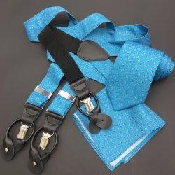 China Hersteller Custom Silk Twill Printed Krawatte, Seide Strapsenträger, Seide Pocket Square