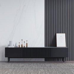 뜨거운 세일 거실 가구 솔리드 우드 그레인 매트리스 TV 테이블 팬시 블랙 월넛 맞춤 TV 캐비닛 현대 이탈리아 미니멀리즘 2/2.4 * 0.4 * 0.52m 크기의 TV 스탠드