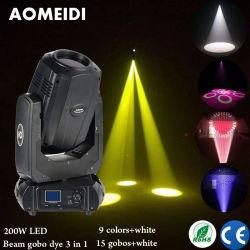 200W 3en1 Cabezal movible LED Iluminación de escenarios Rainbow Proyector de Gobo