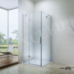유럽 디자인 - 높은 품질 - 6mm 두께의 유리 광장 욕실 힌지 샤워 외장(EX-403)