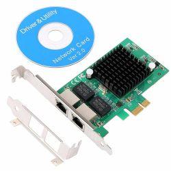 Gigabit Ethernet PCI-E-netwerkkaart met twee poorten