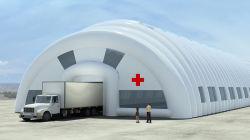 Marcação passou o PVC conveniente a desinfecção de móveis de emergência médica tenda insuflável Desinfecção insuflável tenda em stock prontos para envio