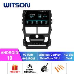 Witson Android 10 DVD проигрыватель мультимедиа для Toyota 2018 Vios автоматический кондиционер версии 4 ГБ ОЗУ 64 Гбайт