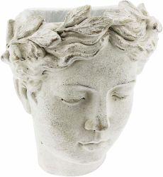 특유한 디자인 잘 고정된 그리스 로마체 여성 동상 헤드 수지 재배자