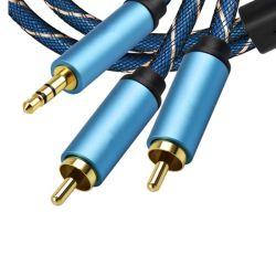2RCA, 3,5 аудиокабель RCA 3,5 мм разъем RCA кабель Aux