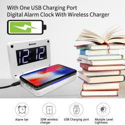 Цифровой индикатор зарядного устройства беспроводной связи стандарта Qi будильник