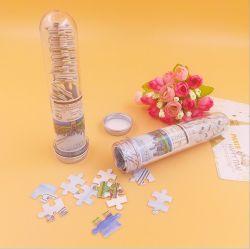 هدية يدوية شعبية الأطفال Intelletual & Educational Paper بانوراما الألغاز مع أنبوب بلاستيكي صغير