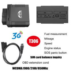 Fácil de instalar carro OBD II Rastreamento por GPS com sistema de alarme de excesso de velocidade T306