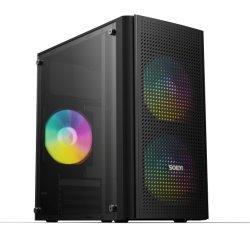 Micro ATX корпус компьютера, 0,6 мм по системам SPCC стальной лист, доступных цветов в черный/ розового цвета / Белый