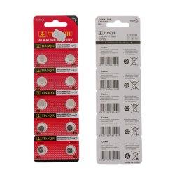 A norma IEC Tianqiu AG4 Pilha tipo botão LR626 Assista a pilha seca 10HP Pack pilha alcalina
