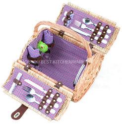 Geschenkbox Willow Wicker Picknickkorb Willow Box für Camping Essen