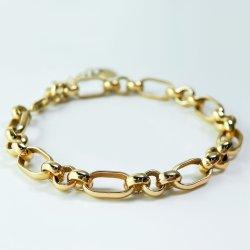 Jóias de ouro de 18K do Elo da Corrente grossas sólido bracelete de Prata