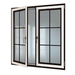 نافذة زجاجية مزدوجة من الألومنيوم لحجب الغازات المسببة للاحتباس الحراري مع سعر المصنع