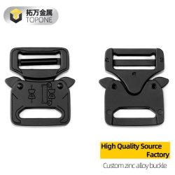 Hebilla cobra nueva táctica de 27mm la hebilla del cinturón negro de la Electroforesis de pintura/logotipo personalizable