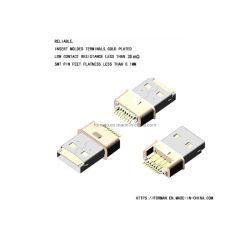 4 terminales de datos y Poder Popular de Puerto del cargador de teléfono móvil se utiliza para el cable con una larga vida útil