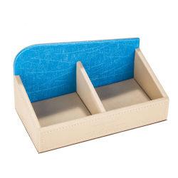 Diseño personalizado de cuero azul beige café té de la combinación de doble soporte