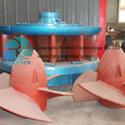 100 Kw a 1000 Kw con agua de la turbina de flujo axial generador de energía