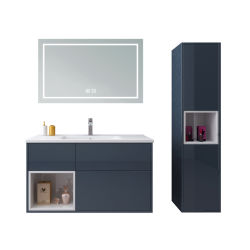 Petite salle de bains coiffeuse en bois 90 cm miroir en plastique de l'Armoire murale