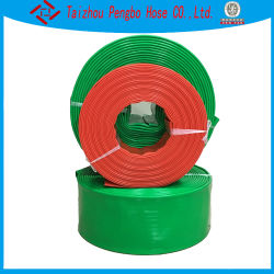 Alta qualidade de irrigação de água PVC fixar a mangueira plana com os encaixes de travamento da bomba de água