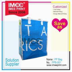 L'impression de toute taille emballage personnalisé Imee Zipper PP tissés ou de sacs en plastique PVC pour les couvertures