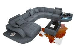 Accueil Mobilier en cuir véritable canapé Coupe Set salle de séjour un canapé moderne canapé en cuir avec LED
