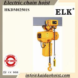 2,5 tonne palan électrique à chaîne avec chariot manuel