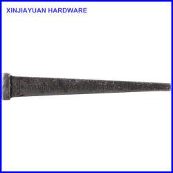 Blunt Point maçonnerie haute résistance en acier poli de clou de la taille de coupe 12D