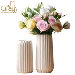 Tall personnalisé de haute qualité à l'intérieur Vase en céramique décorative avec fleur