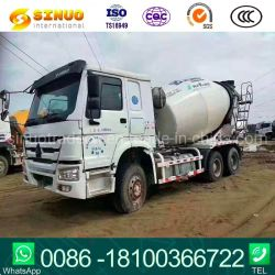 무거운 시멘트 믹서 트럭 6/8/10/12 Cbm 사용된 HOWO 중 콘크리트 믹서 트럭 6X4 Sinotruk 디젤 엔진 10m3