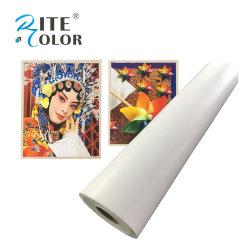 芸術家の印刷260GSM壁の装飾のための光沢のあるポリエステルキャンバス
