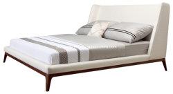 Tissu moderne chinoise chambre à coucher Meubles lit double en cuir
