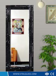 Abgeschrägtes Rand-Rahmen-Kupfer und bleifreier silberner Kleid-Spiegel mit Cer-Bescheinigung