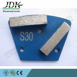 Trapèze de diamants de la plaque de meulage des outils pour renforcer le plancher de béton le polissage