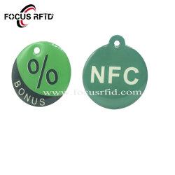 Пластиковый RFID метка ключа смарт-карт эпоксидной смолы брелок с печатью и серийный номер