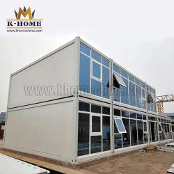 De geprefabriceerde 20FT 40FT Bouw van het Bureau van de Container Modulaire met de Muur van het Glas