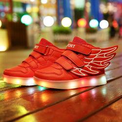 Neue Männer Flywoven Schuhe LED beleuchten bereift oben beiläufige Schuhe