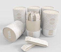 Kundenspezifisches Firmenzeichen-Papppapier-Tee-Kaffee-Wein-Nahrungsmittelmutteren-Gefäß kann sendender Kanister-Gefäß-Zylinder-rundes Geschenk-verpackenpostkasten