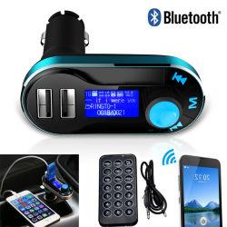 Bt66 Car-Styling Transmetteur FM sans fil Bluetooth® avec écran LCD double chargeur USB Lecteur MP3 Adaptateur de radio de la télécommande