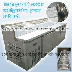 Het nieuwe Kabinet van de Pizza van het Ontwerp Transparante Dekking Gekoelde