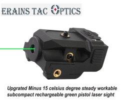 2018 Nouvelle tactique Subzero Direct Compact Rechargeable520nm arme Pistolet Vert Gun Visée Laser pointeur (ES-LS-L101G)
