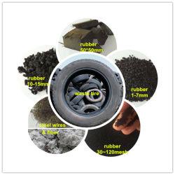 Granules de déchets de caoutchouc Making Machine Machine de traitement des pneus