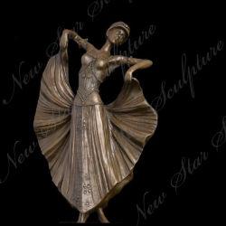 Bronzeskulptur-Fassbinder-Statue-Tänzer für Hauptdekoration
