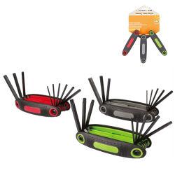 Cr-V 3pk plegado Torx Juego de llaves hexagonales Llave para herramientas de mano