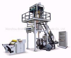 ABA Co-Extrusion tres capas de alta velocidad de extrusión de polímeros de la máquina de soplado de película con recogecables automático