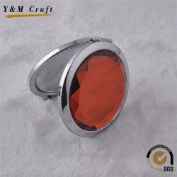 La moda maquillaje Diamante decorativos personalizados espejo metálico compacto