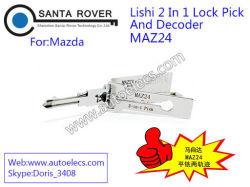 Маз24 Lishi 2 в 1 Lockpick и декодер для Mazda автоматического подборщика