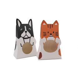 Formato de animais fofos personalizados de papel Wedding Holiday Candy Caixa de oferta